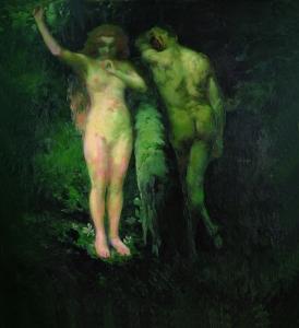 Vaszary, János (Kaposvár, 1867 – Budapest, 1939) Adam and Eve, 1900 oil on canvas, 214.3 × 195 cm, inv. no.: 85 Muzeul Judeţean Mureş – Mureş County Museum Photograph: ©Muzeul Judeţean Mureş